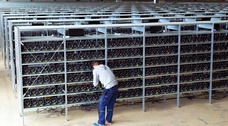 仮想通貨のマイニングのコンピュータ施設
