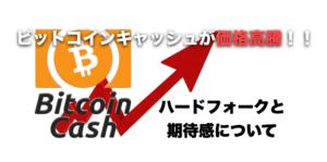 ビットコインキャッシュ(BCH)が価格高騰!!〜ハードフォークと期待感について