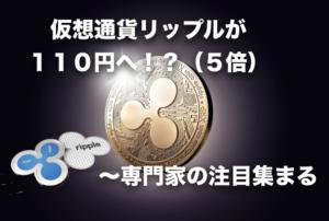 仮想通貨リップル(Ripple)が約1年で110円に!?〜ナスダックサイトでの専門家の予想