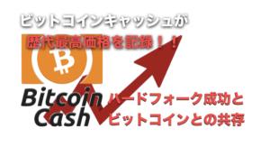 ビットコインキャッシュが歴代最高価格を更新!〜ハードフォークに成功