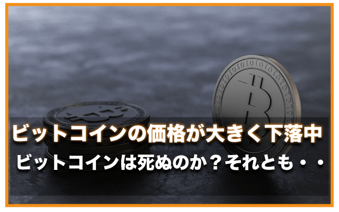 ビットコイン(仮想通貨)の価格が1週間で20%急落!〜今後の展望は?