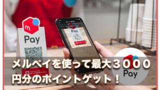 メルペイで無料で1000円分ポイントゲット!〜すすメルペイキャンペーン