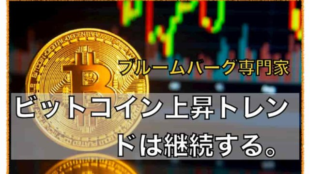 ビットコインの上昇トレンドは今後継続する〜ブルームバーグ専門家