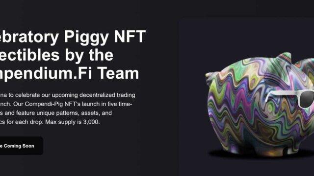 Compendium.FiからSolana(ソラナ)NFTのCompendi-Pigがリリース